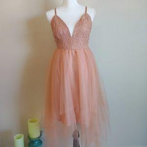 🆕 MAY Mauve/Blush Lace Tulle Dress